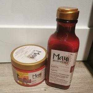New Maui Agave shampoo and hair mask.